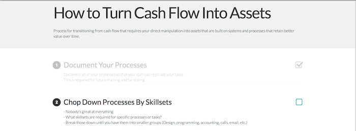 EFP 97: Turning Cash Flow Into Assets