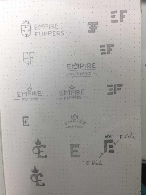 Empire Flippers Logo Sketches