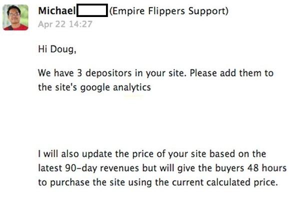 Website Depositors