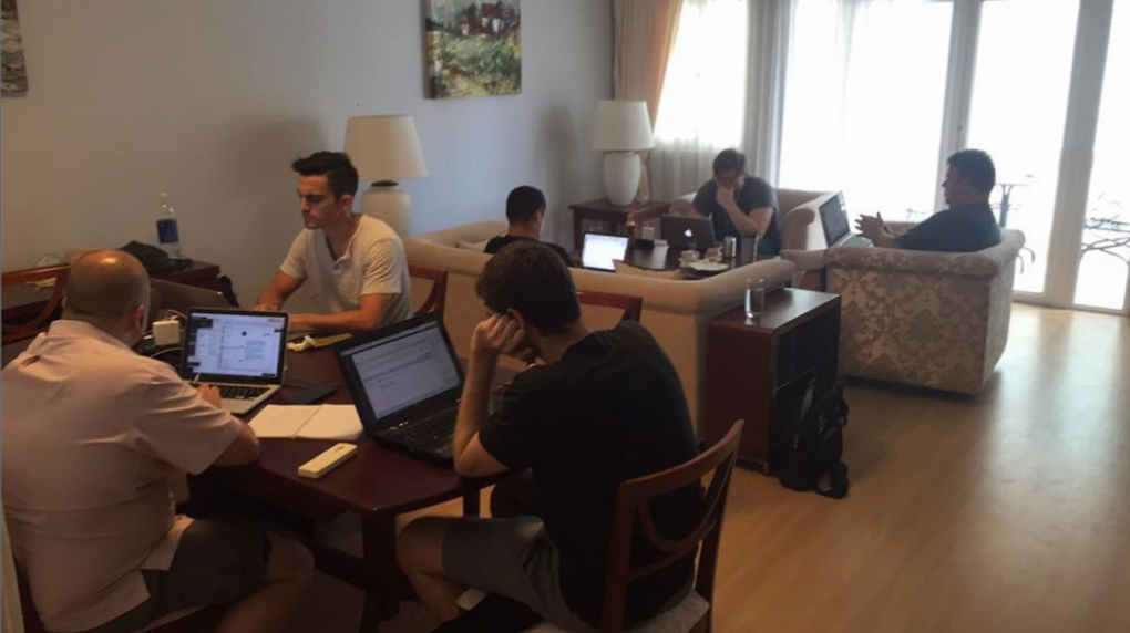 Team Working At Norfolk in Saigon, Vietnam April 2016