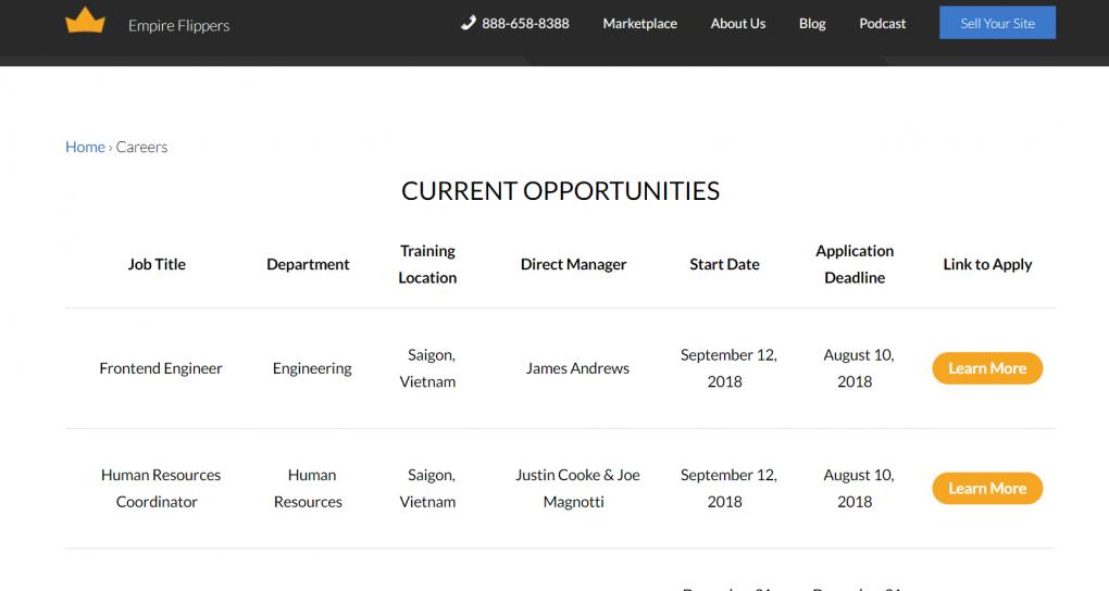 careers board